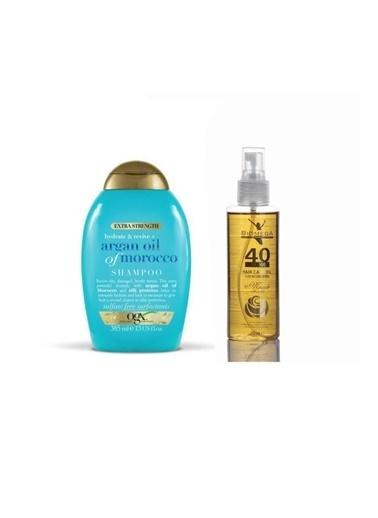 Organix Argan Oil Hydrate + Repair Onarıcı şampuan 385 ml+Biomega 40 Bitkili Doğal Saç Bakım Yağı 150 ml Renksiz